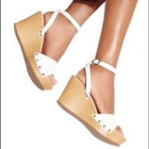 Brand New Never Worn Comfy Ankle Wedges